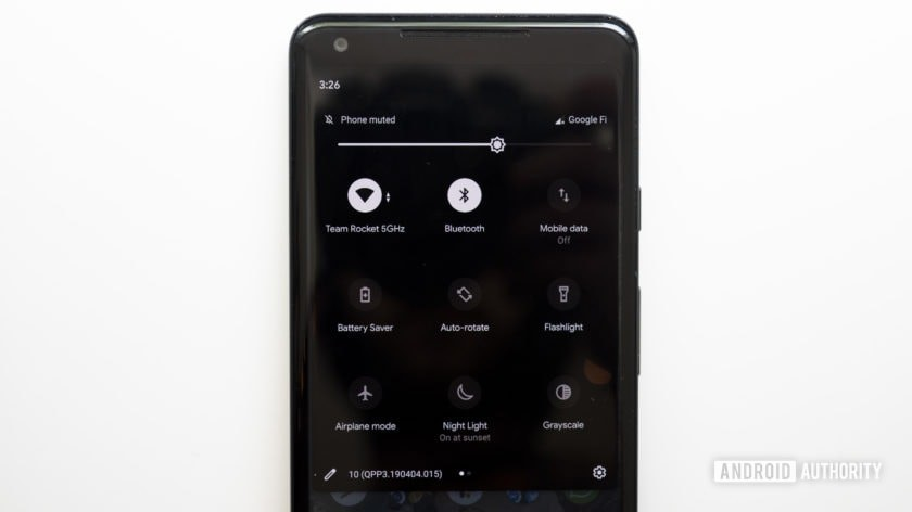 android q beta 3 dark theme quick settings google pixel 2 xl