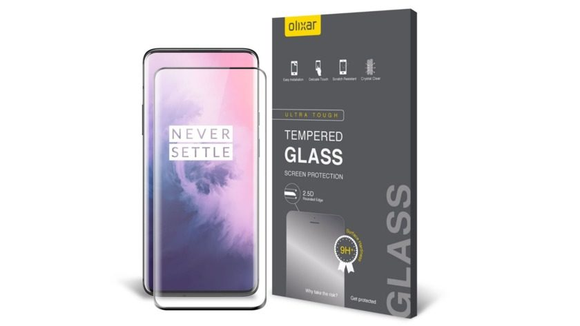 olixar tempered glass screen protector for the oneplus 7 pro