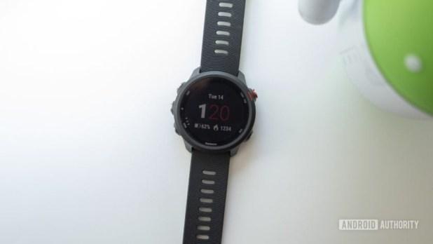 garmin forerunner 245 music running watch watch face display