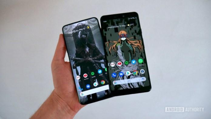 OnePlus 7 Pro vs Google Pixel 3 XL software