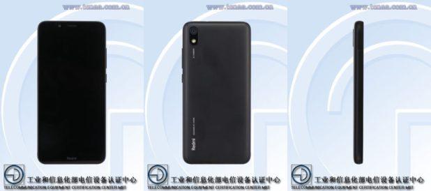 A Xiaomi phone believed to be the Redmi 7A.