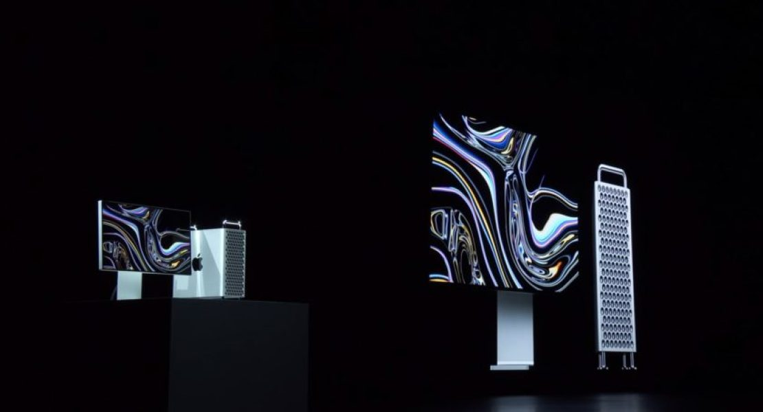 The new Mac Pro shown at Apple WWDC 2019.