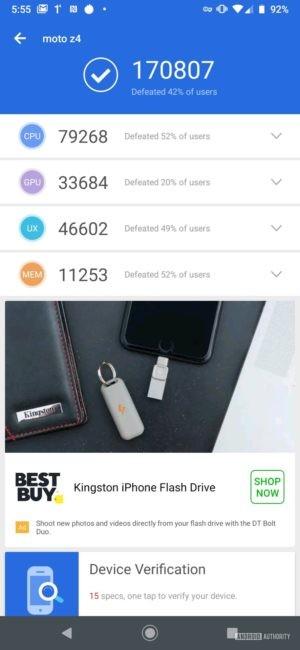 Motorola Moto Z4 Antutu