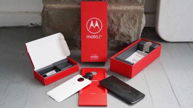 Motorola Moto Z4 Review In the box