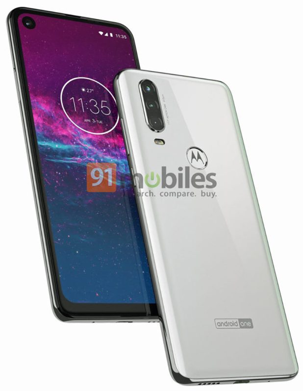 Leaked renders of the Motorola One Action.