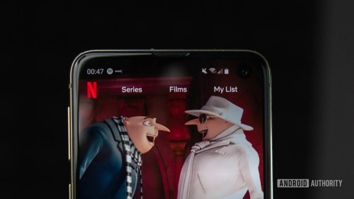 Android-приложение Netflix Galaxy S10e