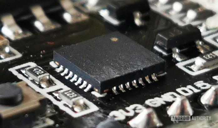 SoC chip procesador marcro shot