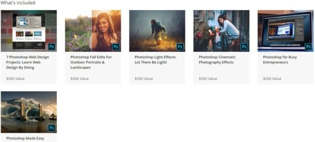 The Complete Photoshop Master Class Bundle 2019 what's included