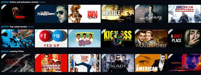best action movies on Amazon Prime Video