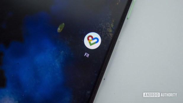 google fit app icon on google pixel 3