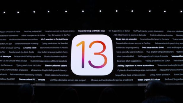 Apple WWDC 2019 on stage image.
