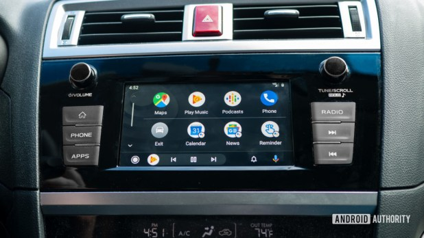 Android Auto Redesign main interface 2