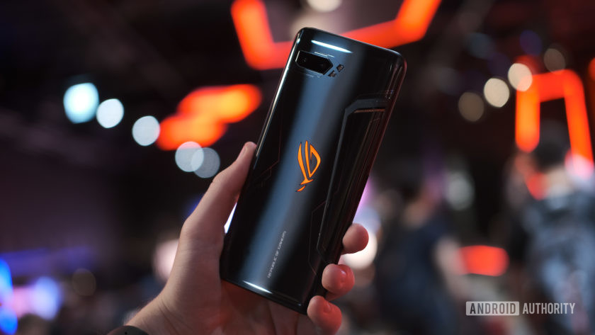 Asus ROG Phone 2 back in hand at angle