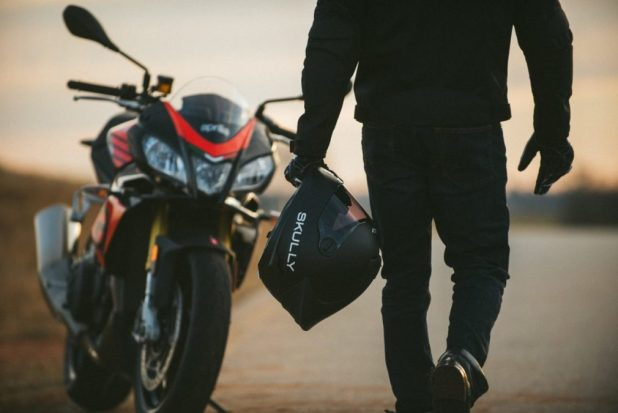 Best smart motorcycle helmets. Skully Fenix AR.