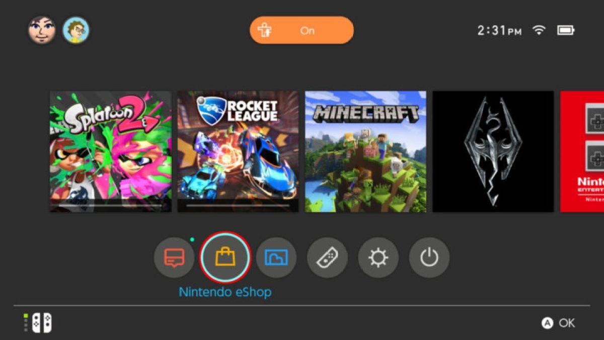 Switch Открыть Nintendo eShop