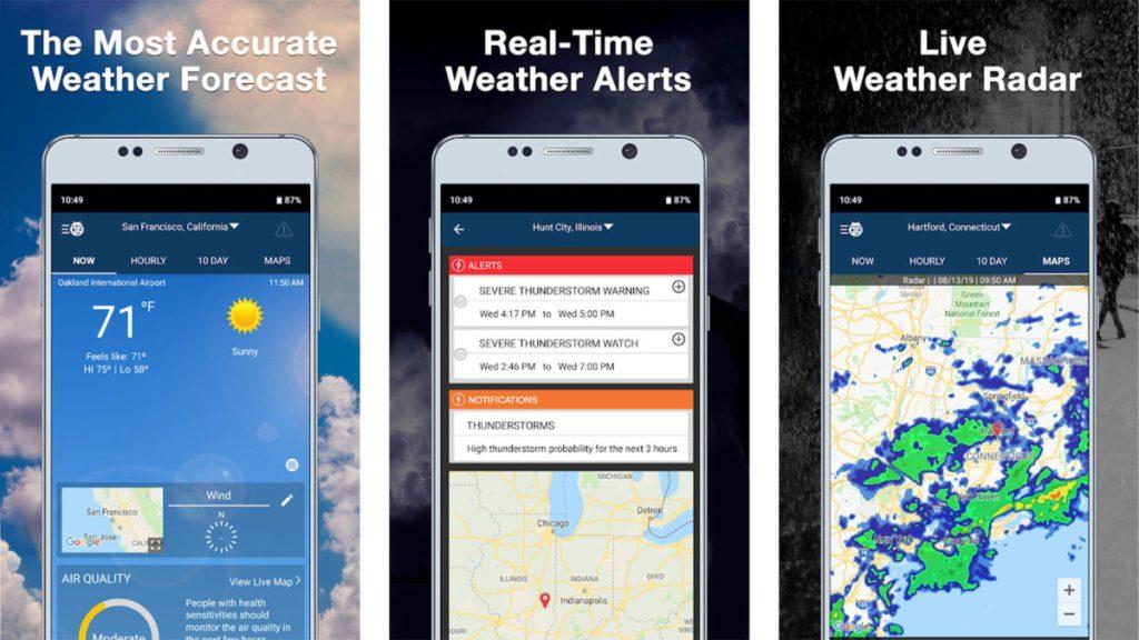 Скриншот Weatherbug 2019 Окончательный