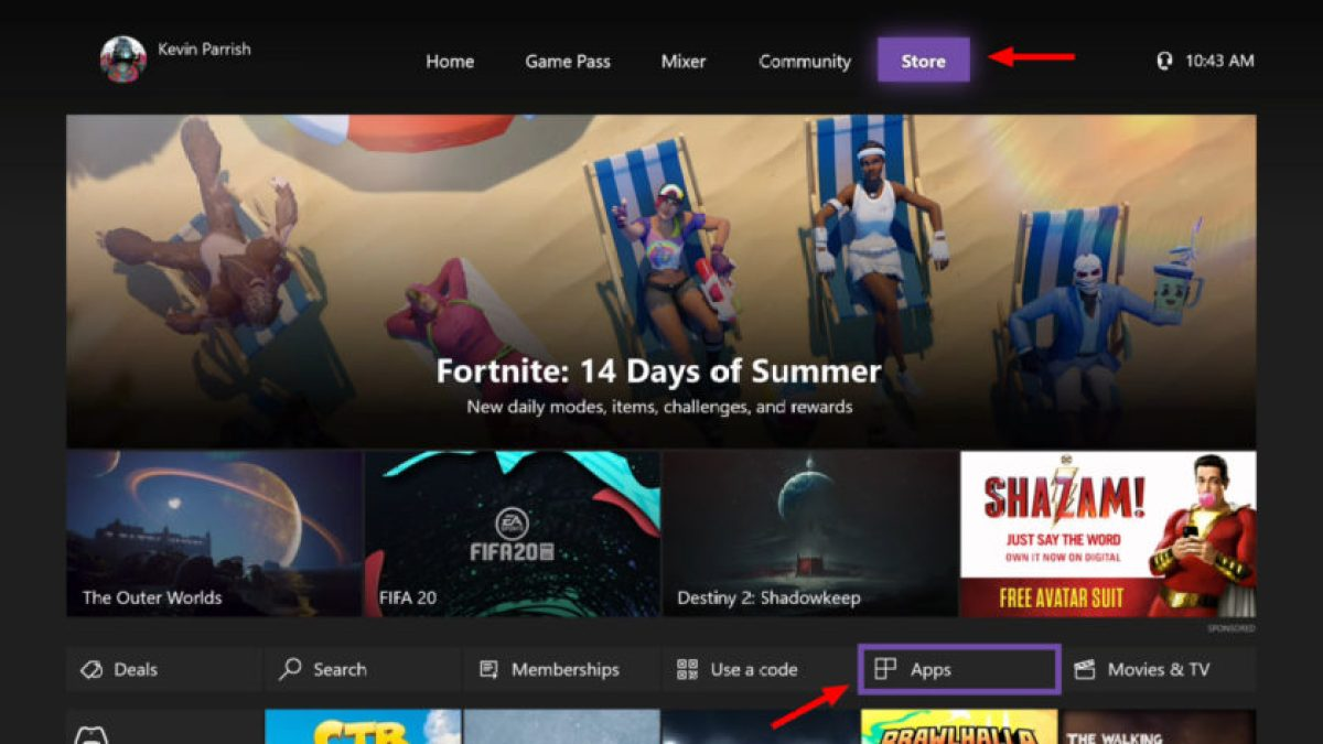 Netflix на Xbox One: страница поиска приложений