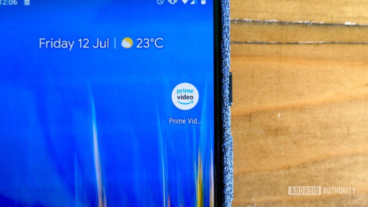 Приложение Amazon Prime Video на телефоне Pixel 3 XL