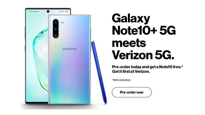 Galaxy Note 10 Plus 5g Image Leaks Get Free Note 10 With Pre Order