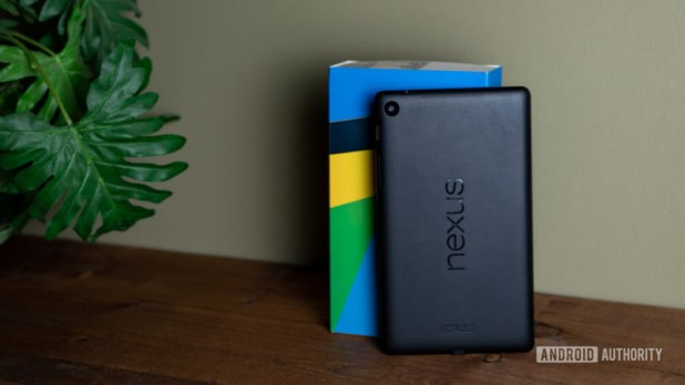 Google Nexus 7 Leaning on Box