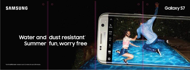 Samsung resistência à água