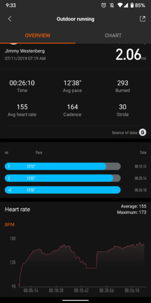 xiaomi mi band 4 heart rate measurement test
