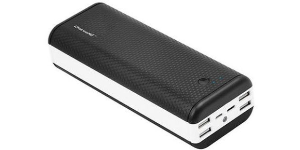 ChargeMe Portable High Capacity Dual Input Power Bank (40,000 mAh)