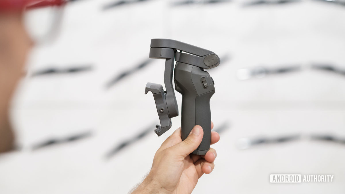 DJI Osmo Mobile 3 folded into the hand