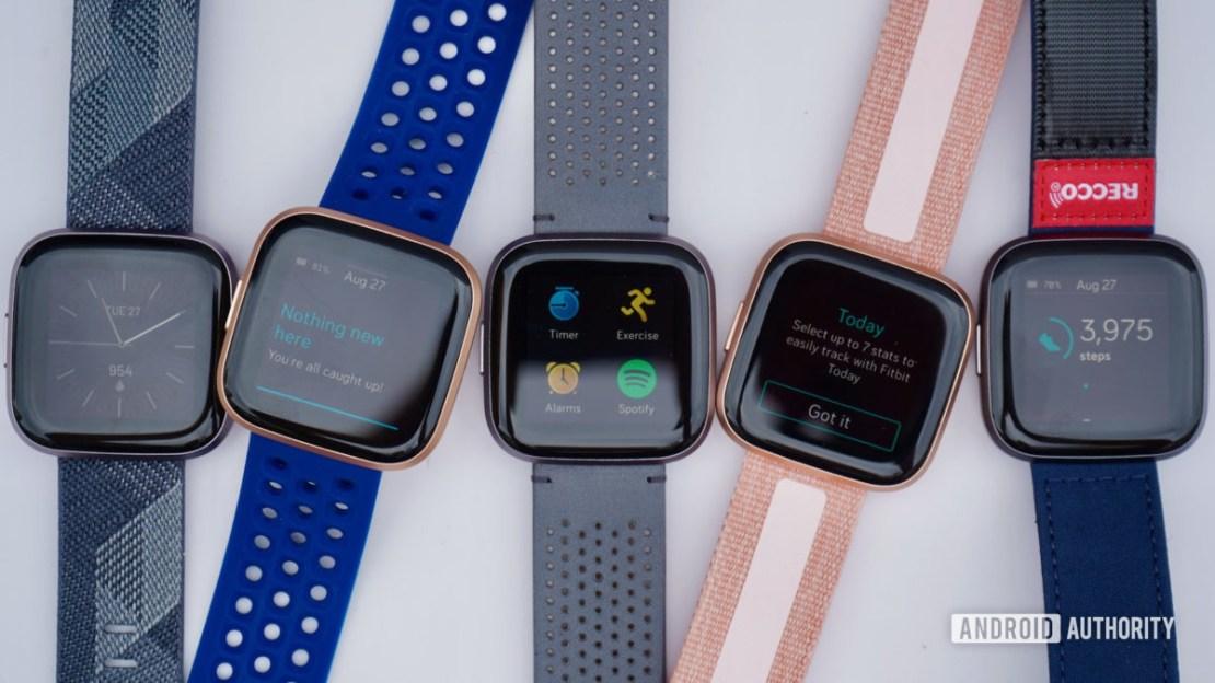 Fitbit Versa 2 family shot fitness tracker deals