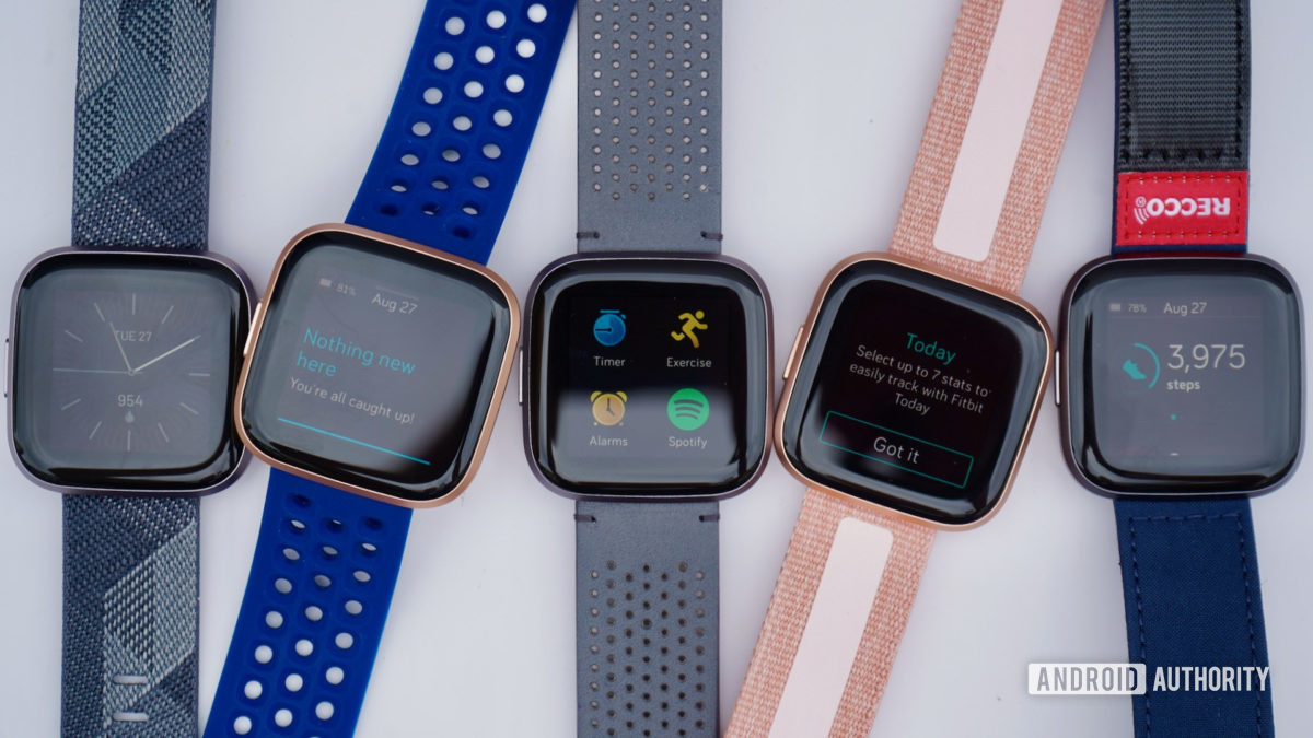 Fitbit Versa 2 family shot fitness tracker deals