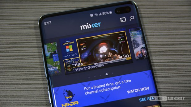Mixer home page photograph