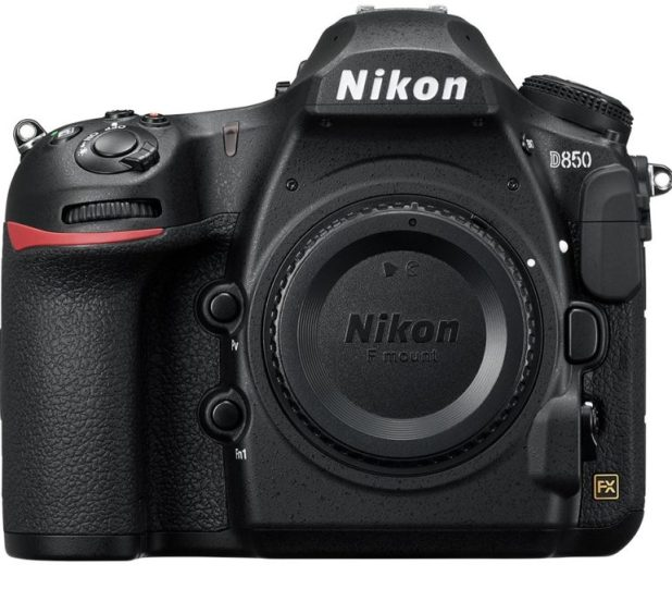 Nikon D850 front side without lens.