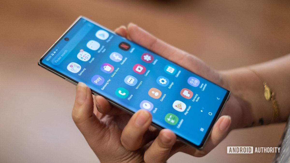 Samsung Note 10 скриншоты объема и мощности