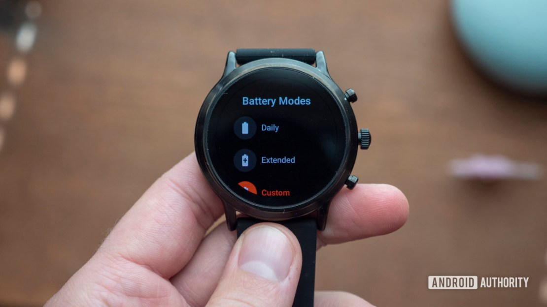 fossil gen 5 smartwatch review custom battery modes 1