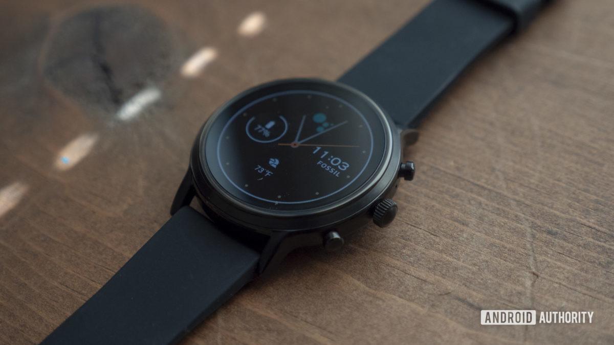 fóssil geração 5 smartwatch display mostrador do relógio 8