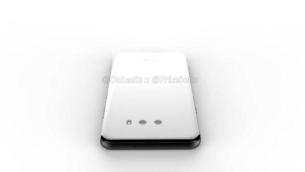 An apparent LG G8X render.