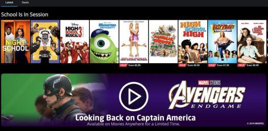 LG Smart TV Movies Anywhere app