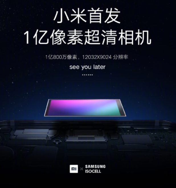 A 108MP sensor announced by Xiaomi and Samsung.
