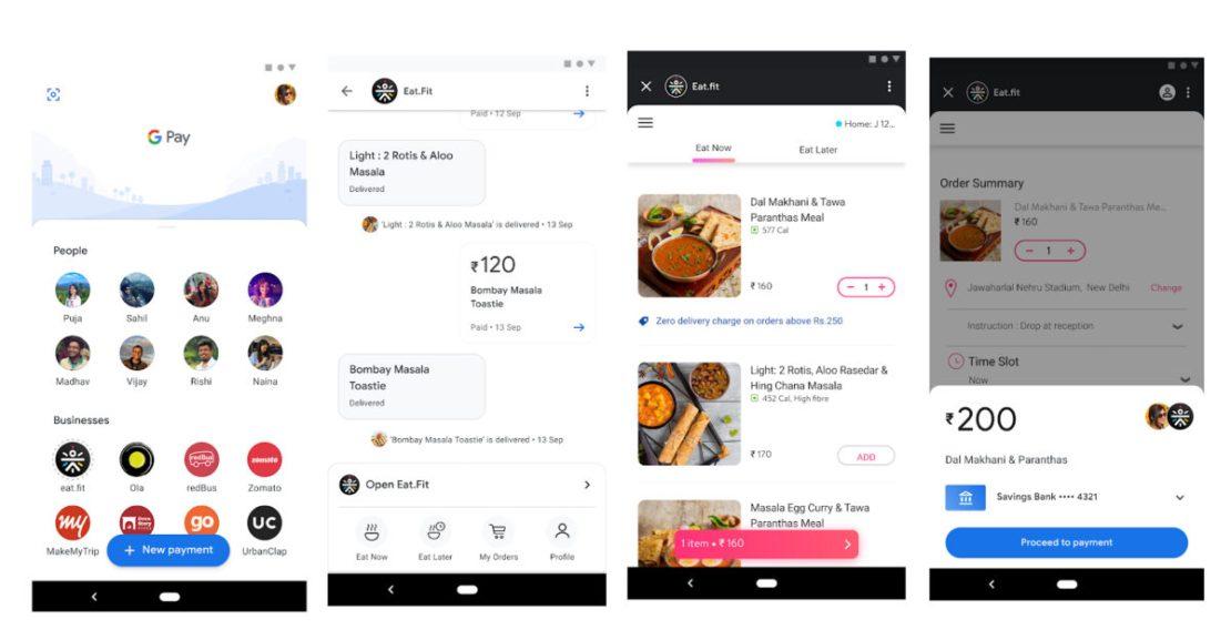 Google Pay Spots App Interface