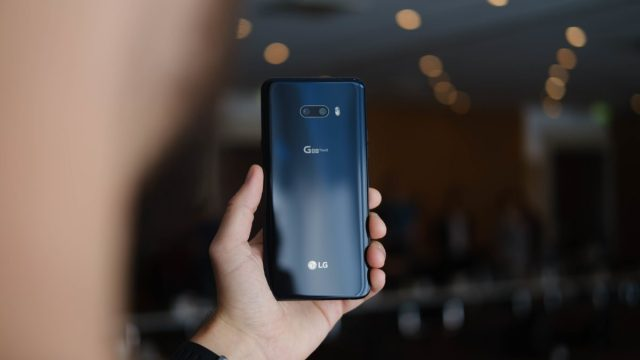 LG G8X ThinQ back in hand