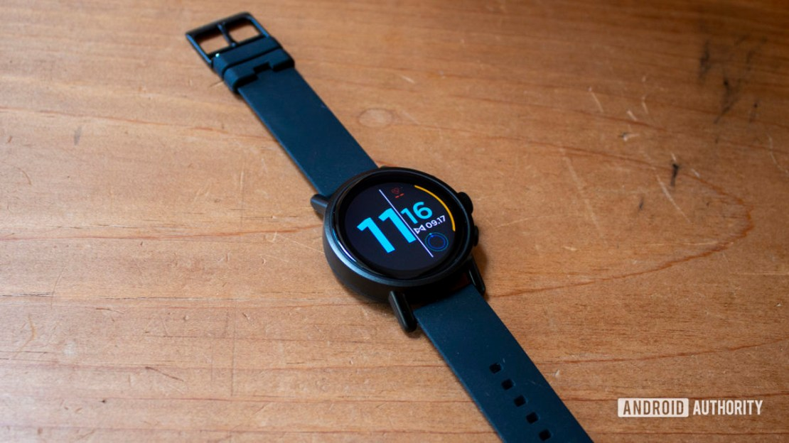 Misfit Vapor X Smartwatch Laying Flat On Wood Table
