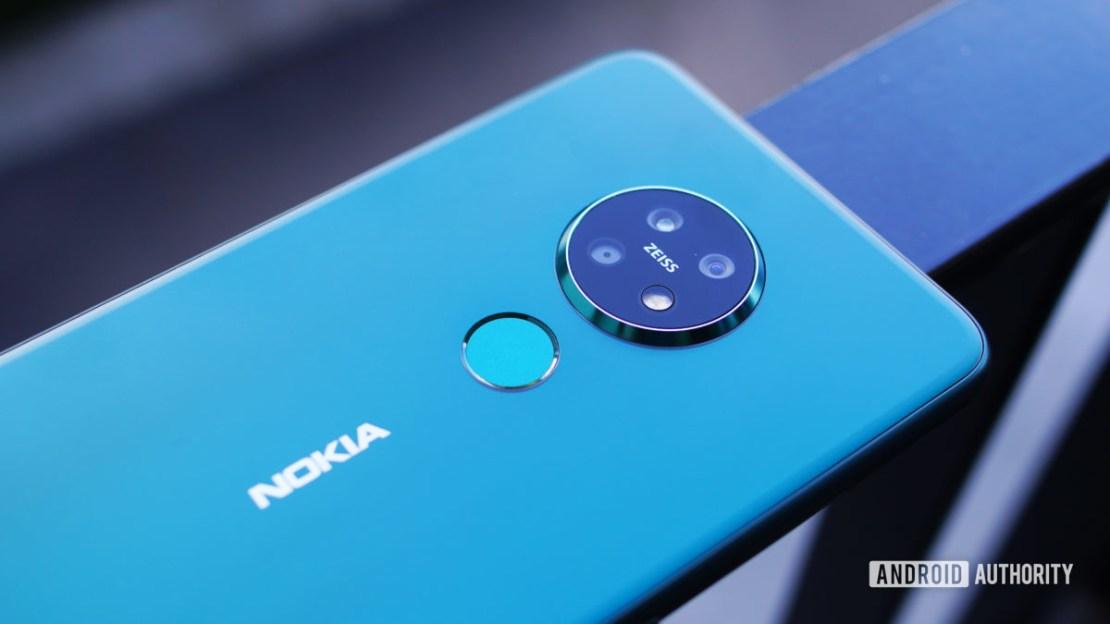 Nokia 7.2 back panel on angle