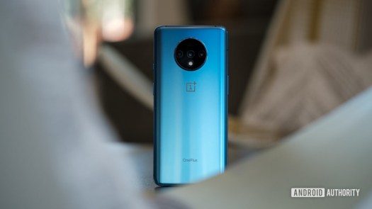 OnePlus 7T back standing upright 4