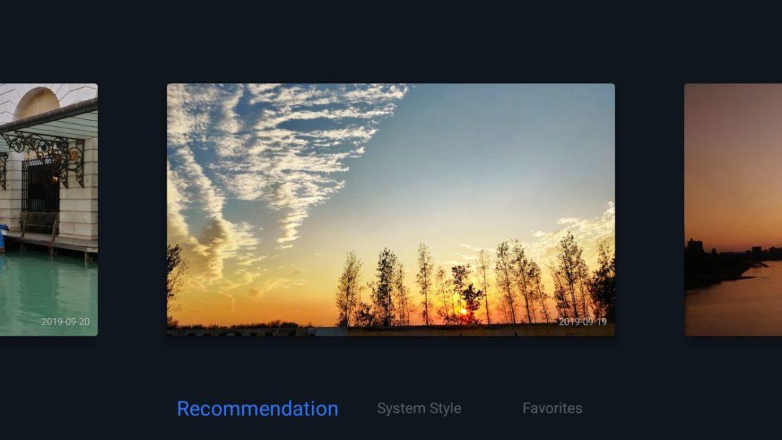 OnePlus TV screen saver options