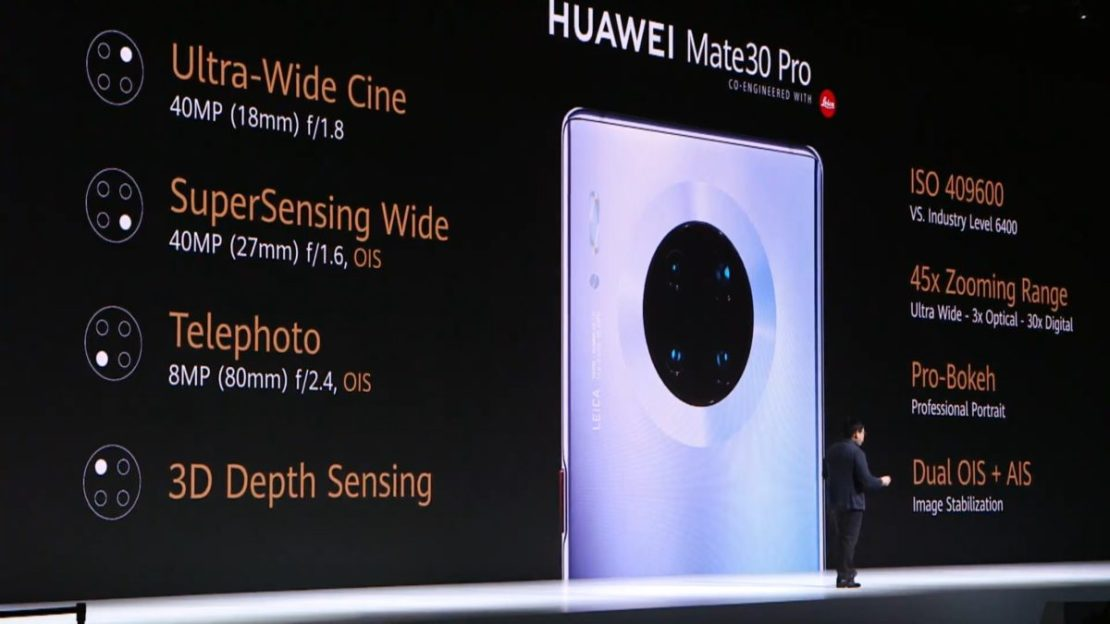 camera specs Huawei Mate 30 Pro aunch