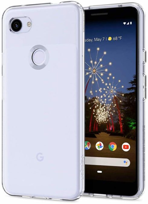 spigen liquid crystal transparent case for the pixel 3a xl