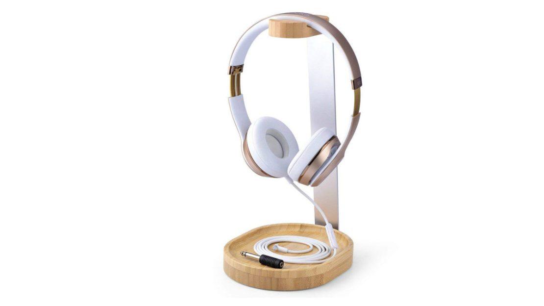 Avantree Bamboo Headphone Stand