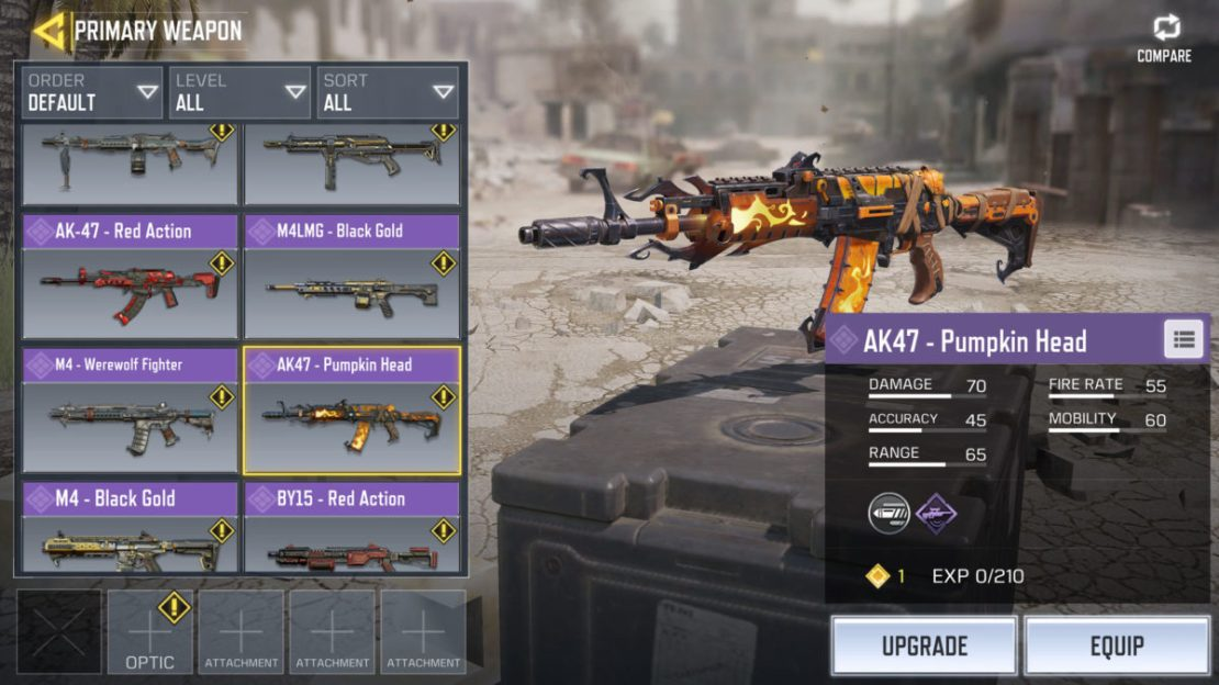 Call of Duty Mobile update halloween skins