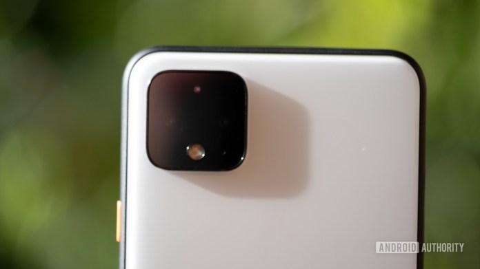 Google Pixel 4 XL camera lens closeup 3