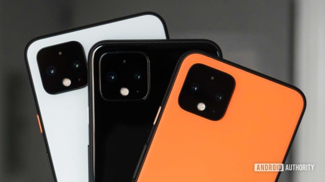 Google Pixel 4 colors and camera closeup